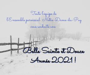 Belle Sainte et Douce année 2021