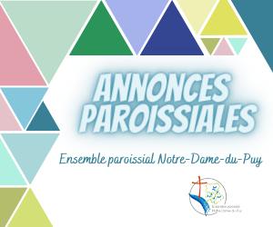 Annonces paroissiales 28 février au 7 mars 2021